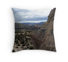 On the Edge of the Abyss Throw Pillow