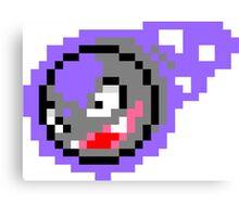 Pokemon 8-Bit Pixel Gastly 092 Canvas Print