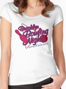 BROOKLYN BOWLING NIGHT Women's Fitted Scoop T-Shirt