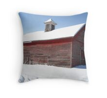 Old Red Barn:  Rte 2A Athol MA Throw Pillow