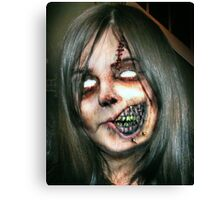 Zombie Girl Canvas Print