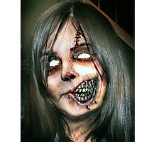 Zombie Girl Photographic Print
