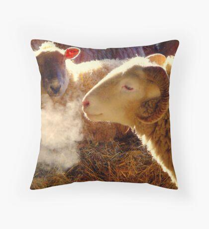 Winter Farm .. Throw Pillow