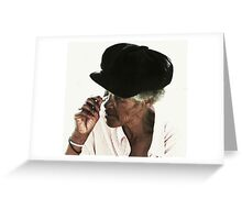 """The black """"charity"""" hat Greeting Card"""