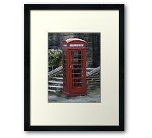 Telephone Box - Oil Effect Framed Print