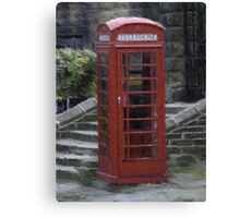 Telephone Box - Oil Effect Canvas Print