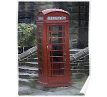 Telephone Box - Oil Effect Poster