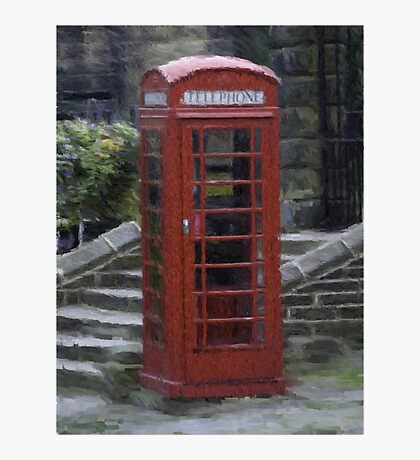 Telephone Box - Oil Effect Photographic Print