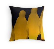 Penguins in Prague Throw Pillow