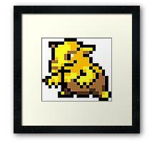 Pokemon 8-Bit Pixel Drowzee 096 Framed Print