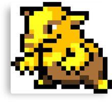 Pokemon 8-Bit Pixel Drowzee 096 Canvas Print
