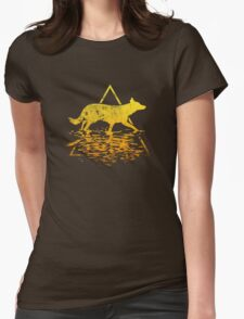 The Dog (Inverse) Womens Fitted T-Shirt