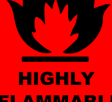 Flammable Warning Sign Sticker