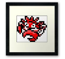 Pokemon 8-Bit Pixel Kingler 099 Framed Print