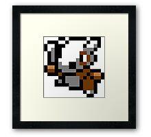 Pokemon 8-Bit Pixel Cubone 104 Framed Print