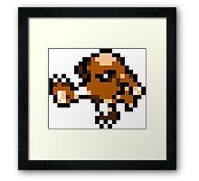 Pokemon 8-Bit Pixel Hitmonlee 106 Framed Print