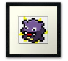 Pokemon 8-Bit Pixel Koffing 109 Framed Print