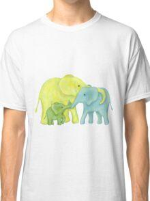 Elephant Family of Three Classic T-Shirt