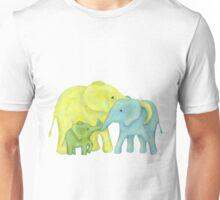 Elephant Family of Three Unisex T-Shirt