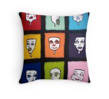 Mask Series: Part 1 Throw Pillow