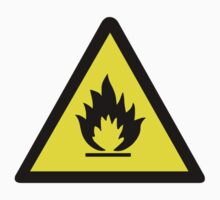 Flammable Warning Sign by sweetsixty