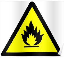 Flammable Warning Sign Poster