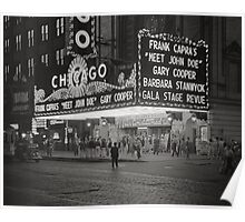 The Chicago Theater at Night, 1941 Poster