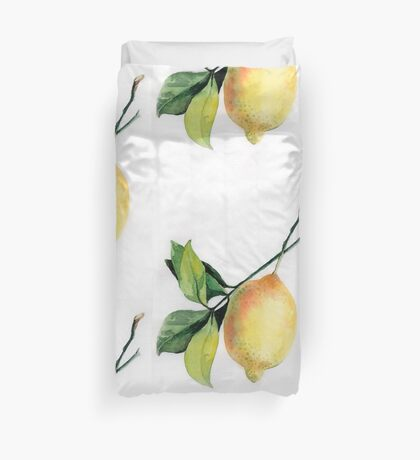 Branch of  lemons with leaves Duvet Cover