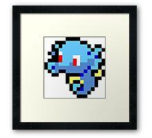Pokemon 8-Bit Pixel Horsea 116 Framed Print
