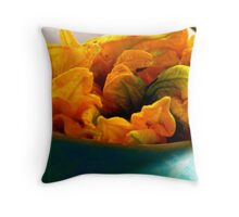 Edible Flowers Throw Pillow