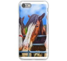 Clydesdale Shire Horses iPhone Case/Skin