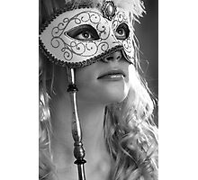 Woman with mask Photographic Print