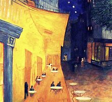 "My Version /  Homage  to Vincent   ""  The Cafe' Terrace  at Night  ""     My Paintings                        by fiat777"