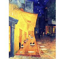 "My Version /  Homage  to Vincent   ""  The Cafe' Terrace  at Night  ""     My Paintings                        Photographic Print"