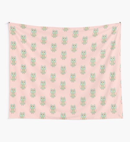 Patterned Owl Wall Tapestry