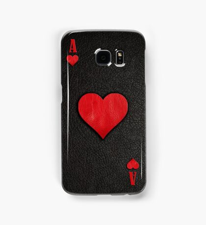 Ace of Hearts Leather Samsung Galaxy Case/Skin