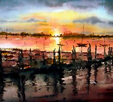 Bosham Harbour (west Sussex) wet & loose by LorusMaver
