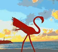 """Flamingo Sunset"" by Ariane"