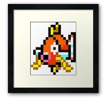Pokemon 8-Bit Pixel Magikarp 129 Framed Print