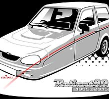 Reliant Robin 3 anniversary by car2oonz