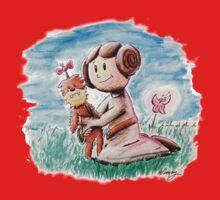 Princess Leia and Wookiee Doll Chewbacca STAR WARS fan art One Piece - Short Sleeve