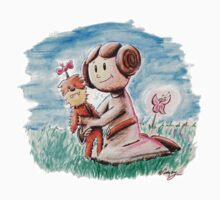Princess Leia and Wookiee Doll Chewbacca STAR WARS fan art Baby Tee