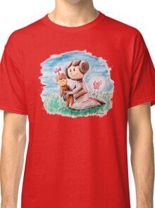 Princess Leia and Wookiee Doll Chewbacca STAR WARS fan art Classic T-Shirt