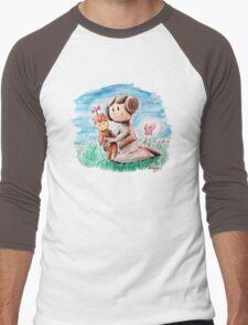 Princess Leia and Wookiee Doll Chewbacca STAR WARS fan art Men's Baseball ¾ T-Shirt