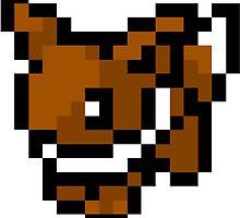 Pokemon 8-Bit Pixel Eevee 133 by slr06002