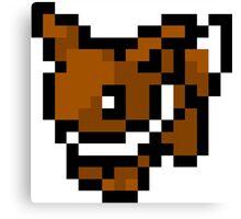Pokemon 8-Bit Pixel Eevee 133 Canvas Print