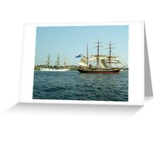 Ships That Pass... Greeting Card