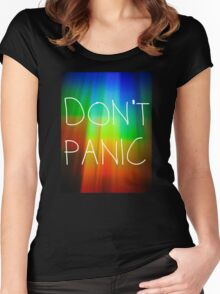 Don't Panic (2) Women's Fitted Scoop T-Shirt