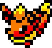 Pokemon 8-Bit Pixel Flareon 136 by slr06002