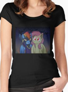 Girls ready for nightmare night Women's Fitted Scoop T-Shirt